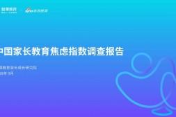 2018年中国家长教育焦虑指数调查报告(附完整版报告)
